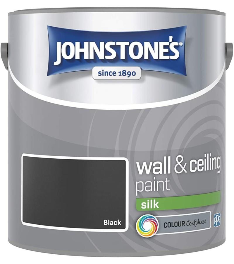 Johnstones Vinyl Emulsion Paint 2.5L Black Silk