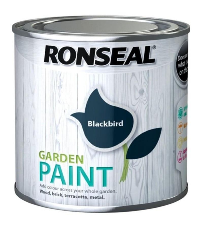 Ronseal Garden Paint 750ml Blackbird
