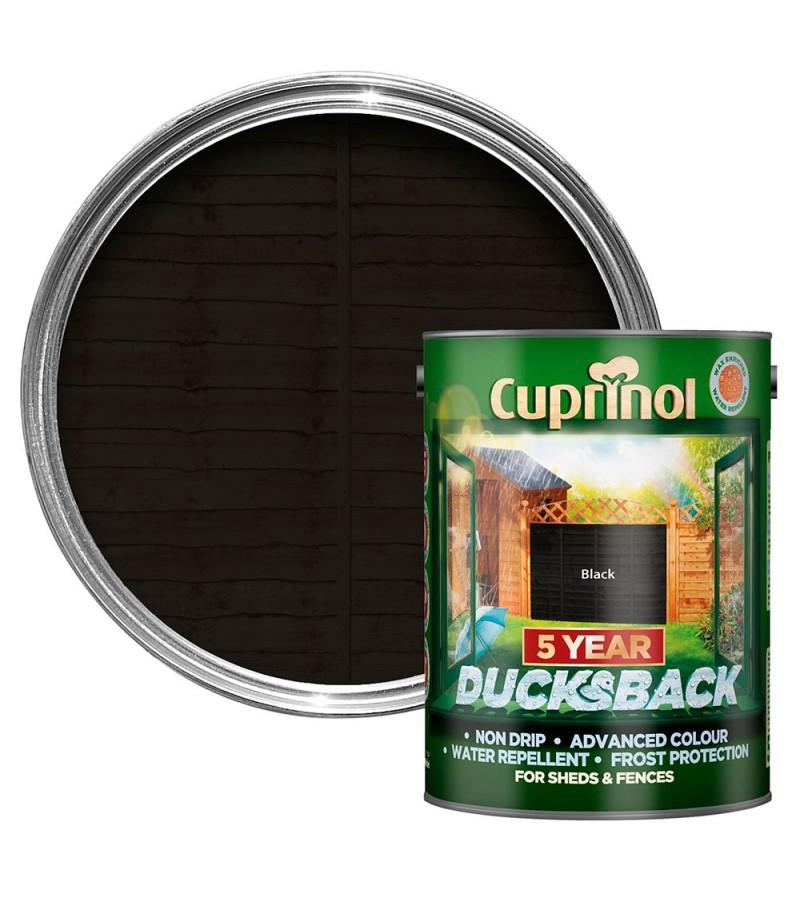 Cuprinol 5 Year Ducksback 5L Black
