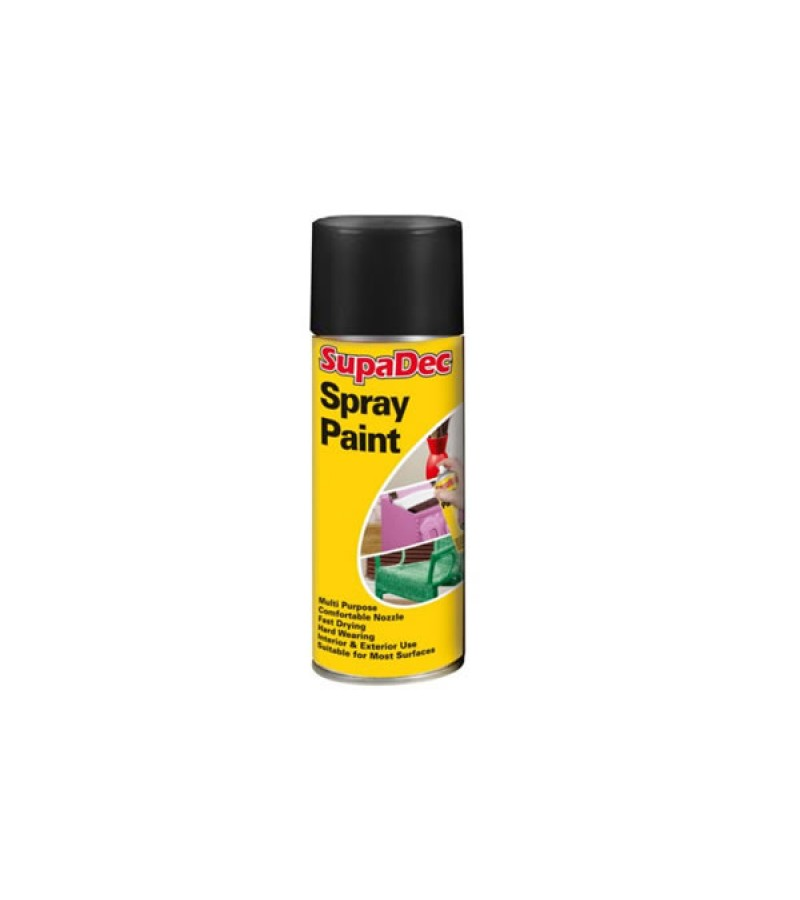 Supadec Spray Paint 400ml Black Matt