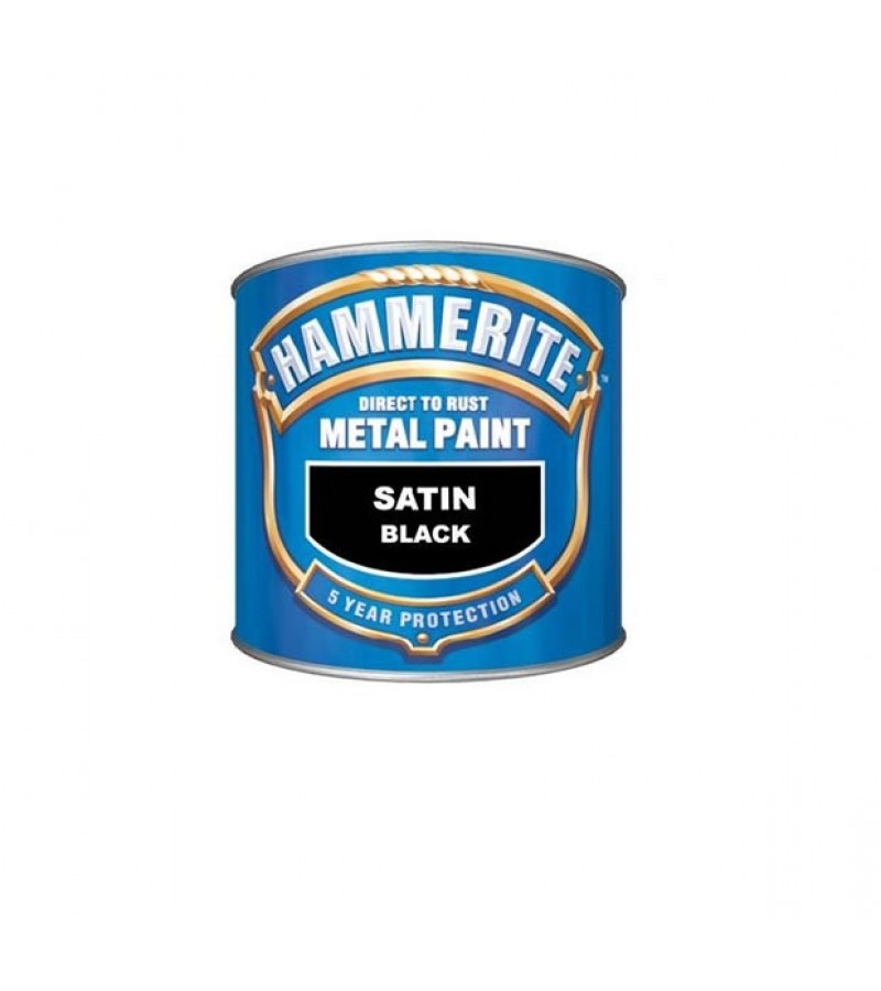 Hammerite Metal Paint 250ml Black Satin