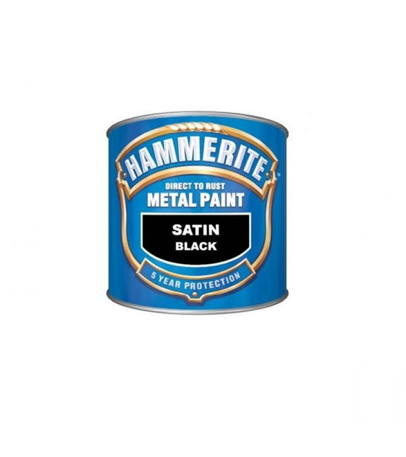 Hammerite Metal Paint 2.5L Black Satin
