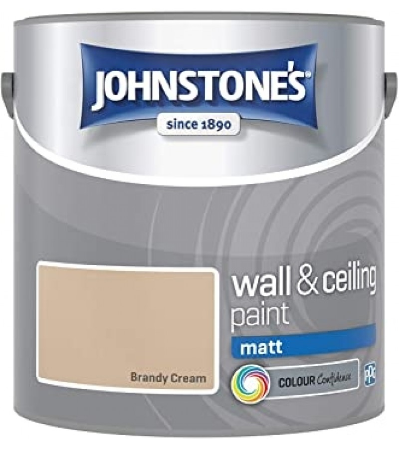 Johnstones Vinyl Emulsion Paint 2.5L Brandy Cream Matt