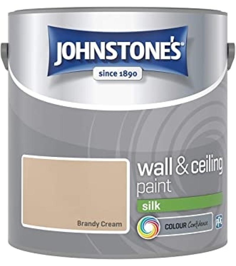 Johnstones Vinyl Emulsion Paint 2.5L Brandy Cream Silk