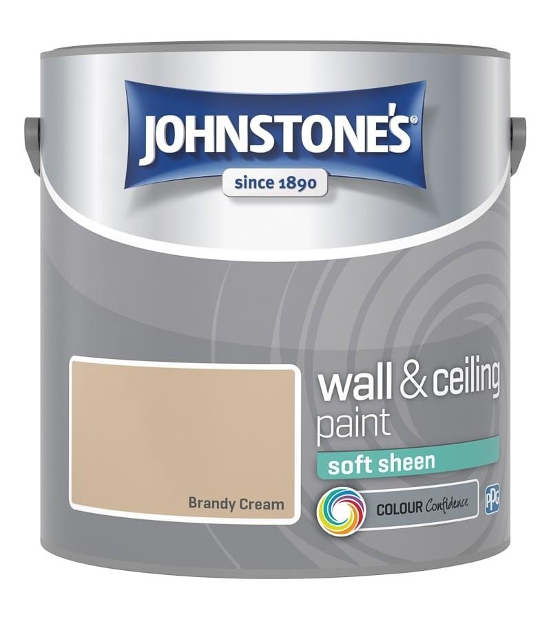 Johnstones Vinyl Emulsion Paint 2.5L Brandy Cream Soft Sheen