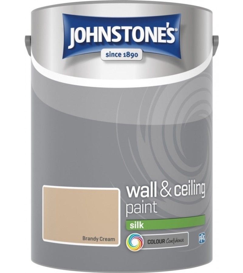 Johnstones Vinyl Emulsion Paint 5L Brandy Cream Silk