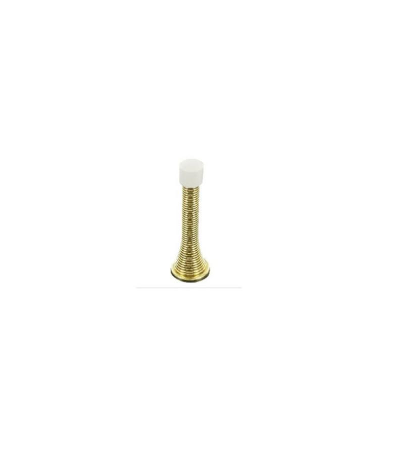Securit S2571 75mm Spring Door Stop (Brass)