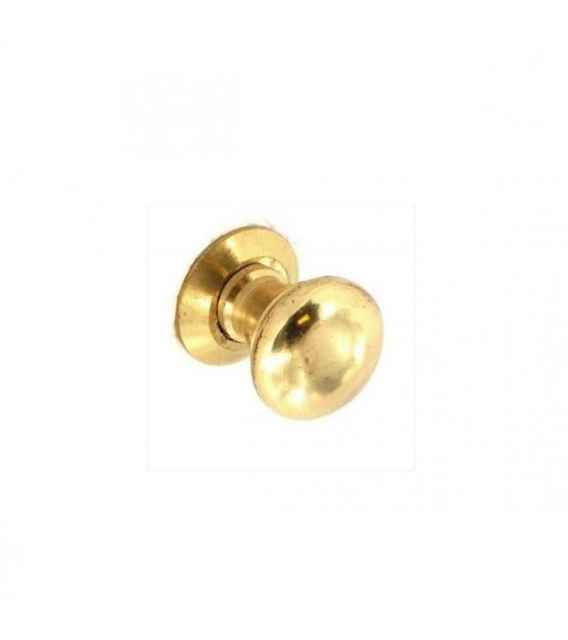 Securit S2613 30mm Victorian Brass Cupboard Knobs (2 Pack)