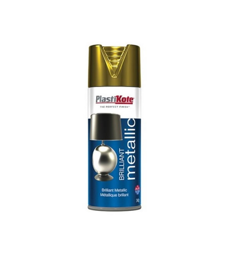 PlastiKote Brilliant Metallic Spray Paint 400ml Gold