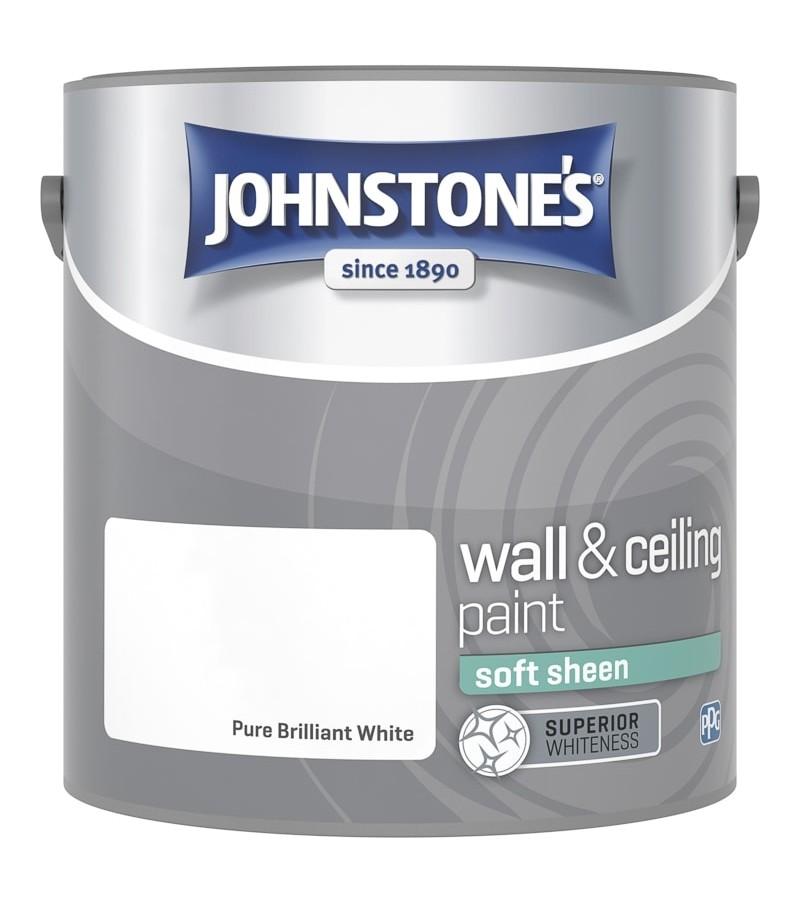 Johnstones Vinyl Emulsion Paint 2.5L Brilliant White (Soft Sheen)