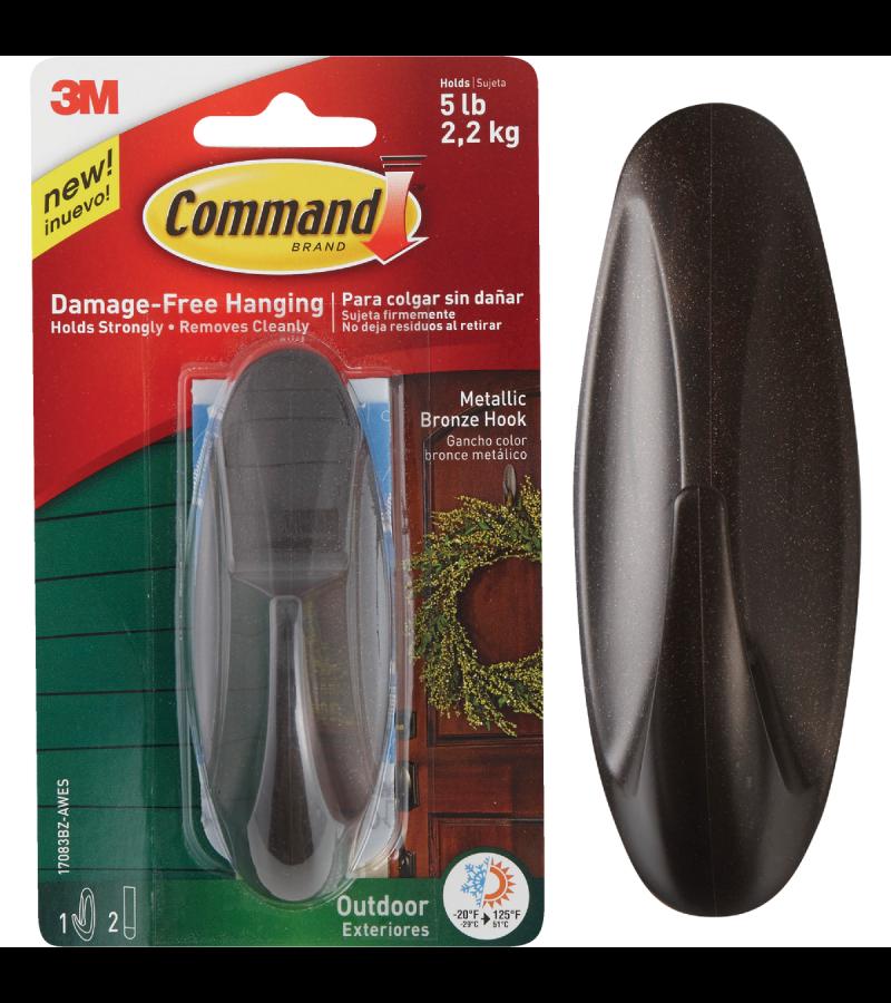 Command 3M Outdoor Metallic Bronze Hook 17083bz