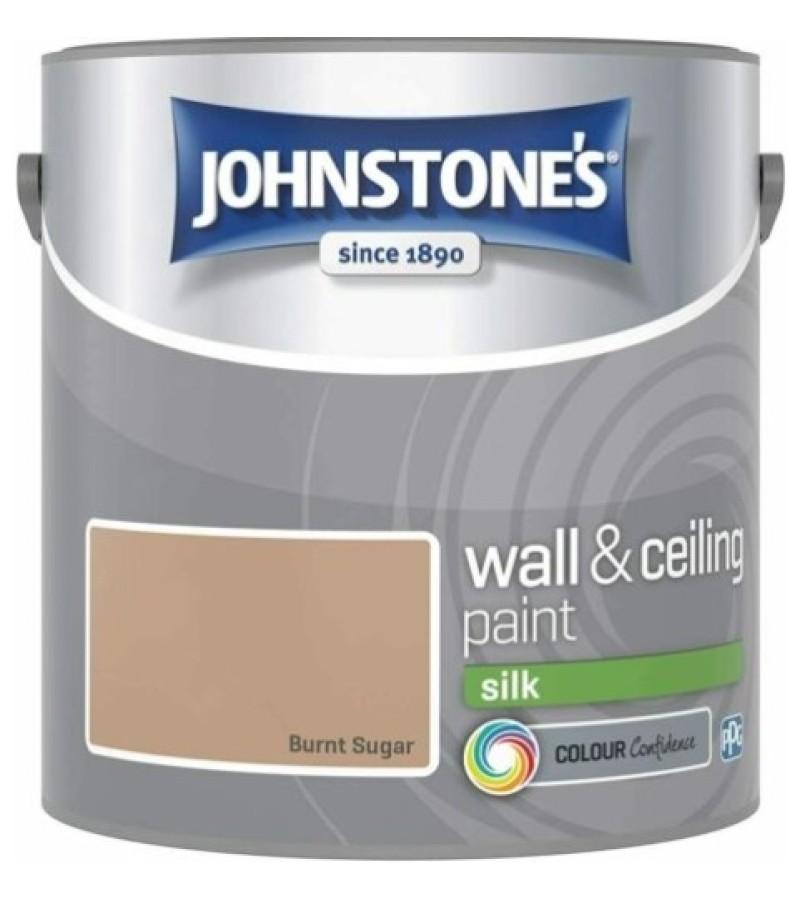 Johnstones Vinyl Emulsion Paint 2.5L Burnt Sugar Silk