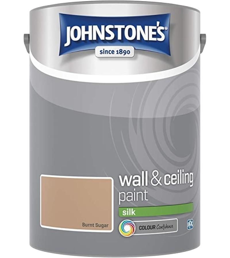 Johnstones Vinyl Emulsion Paint 5L Burnt Sugar (Silk)