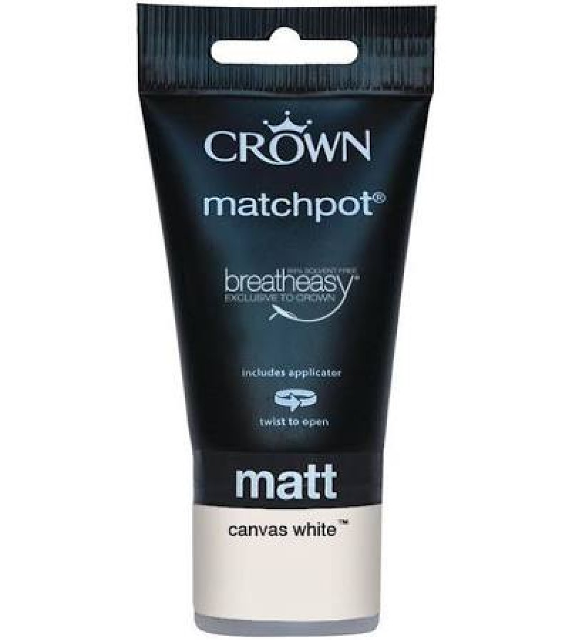 Crown Tester Pot 40ml Canvas White Matt
