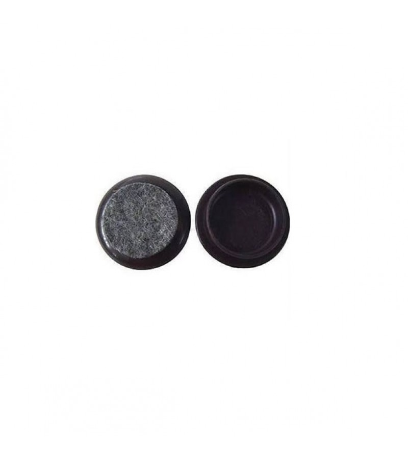 Felt Gard 44mm Castor Cups Dark Brown