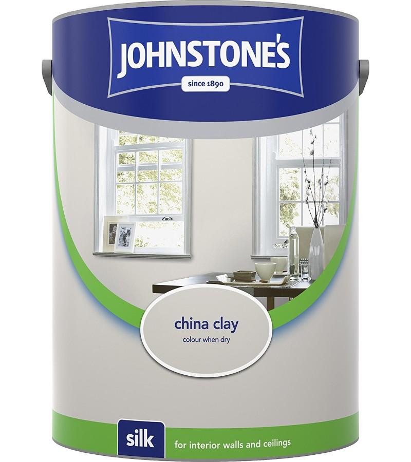 Johnstones Vinyl Emulsion Paint 5L China Clay Silk
