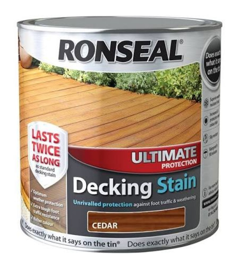 Ronseal Ultimate Protection Decking Oil 2.5L Cedar