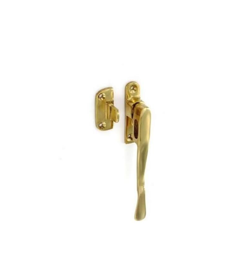"Securit S2293 5"" Victorian Casement Fastener Vent Spoon (Brass)"