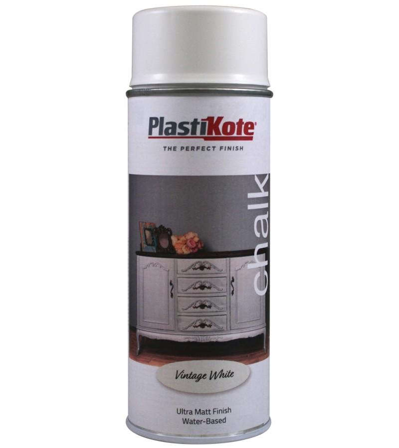 Plastikote Chalk Spray Paint 400ml Vintage White