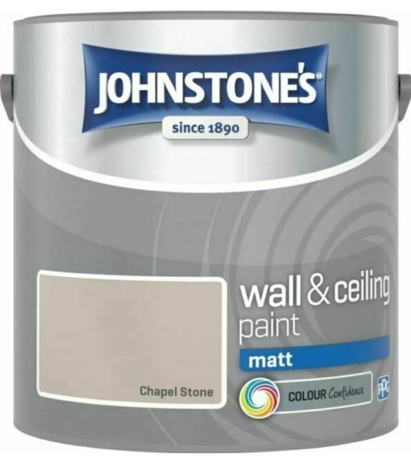 Johnstones Vinyl Emulsion Paint 2.5L Chapel Stone (Matt)