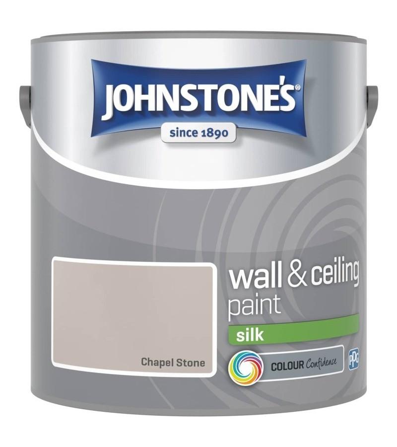 Johnstones Vinyl Emulsion Paint 2.5L Chapel Stone (Silk)