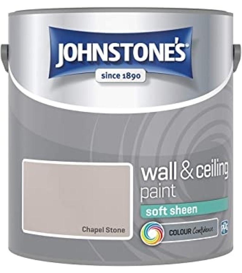 Johnstones Vinyl Emulsion Paint 2.5L Chapel Stone Soft Sheen