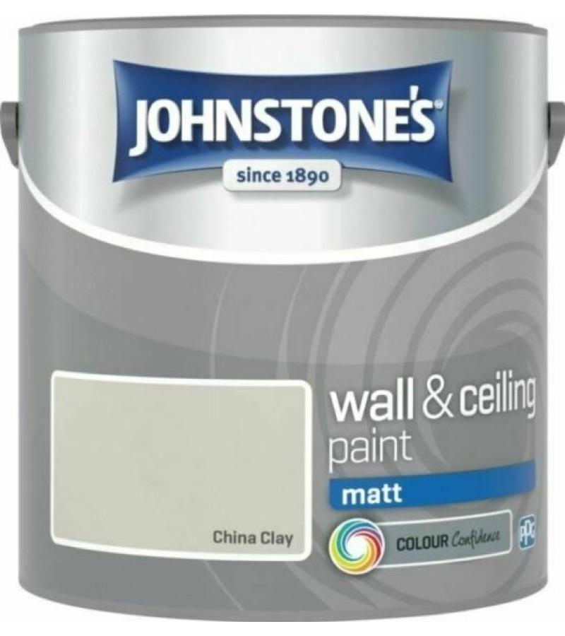Johnstones Vinyl Emulsion Paint 2.5L China Clay (Matt)