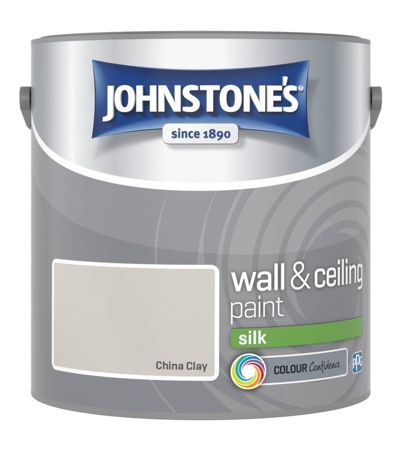 Johnstones Vinyl Emulsion Paint 2.5L China Clay Silk