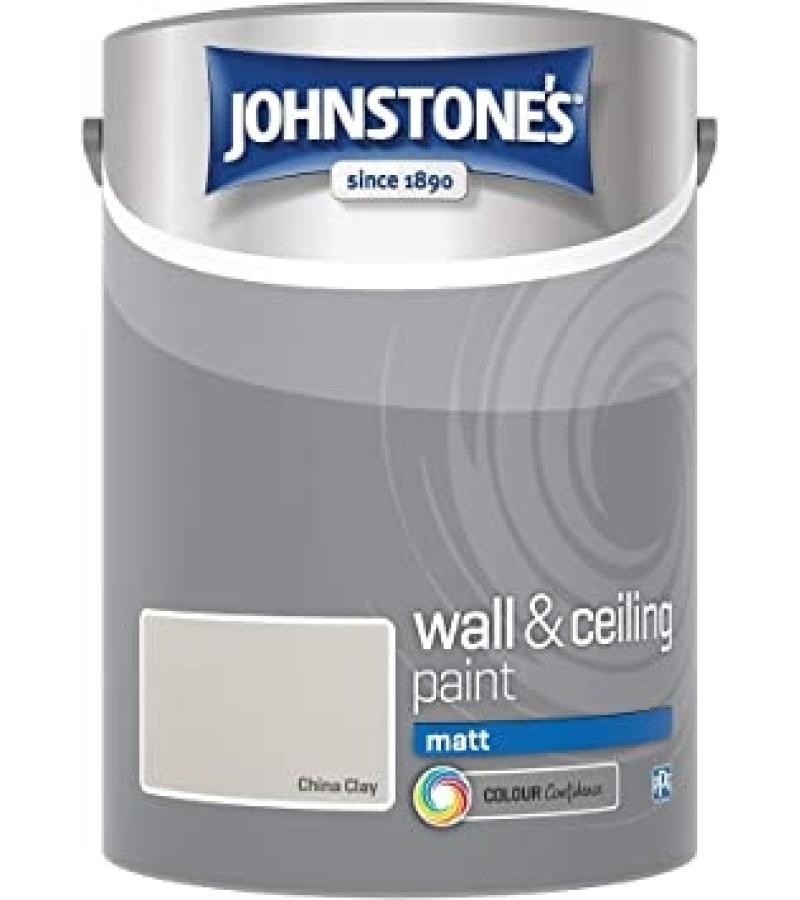 Johnstones Vinyl Emulsion Paint 5L China Clay Matt