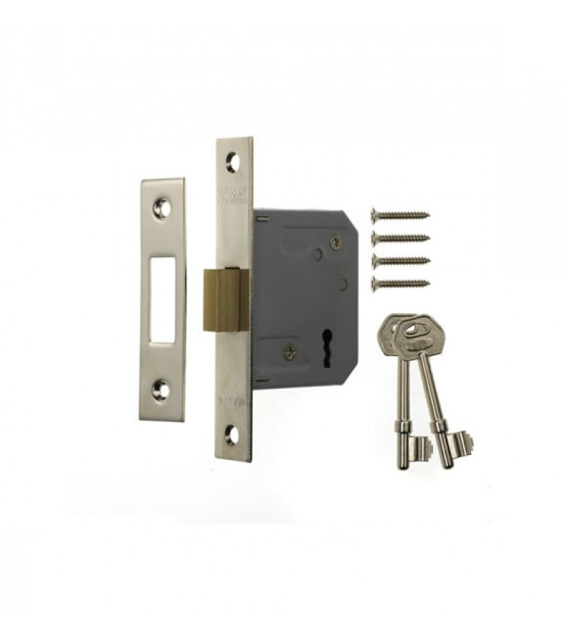 Era 3 Lever Chrome Effect Deadlock 3""