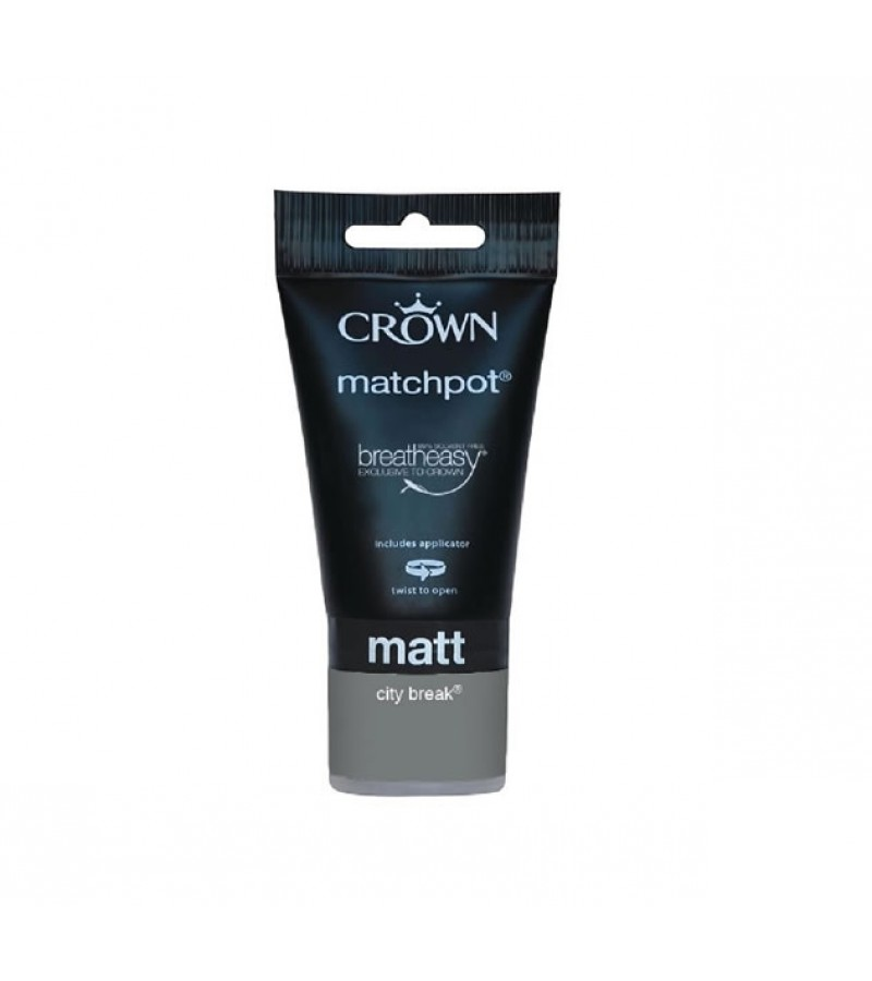 Crown Emulsion Paint Tester Pot 40ml City Break (Matt)