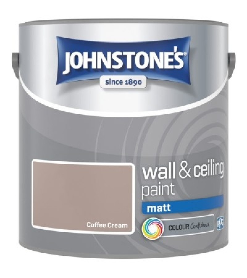 Johnstones Vinyl Emulsion Paint 2.5L Coffee Cream (Matt)