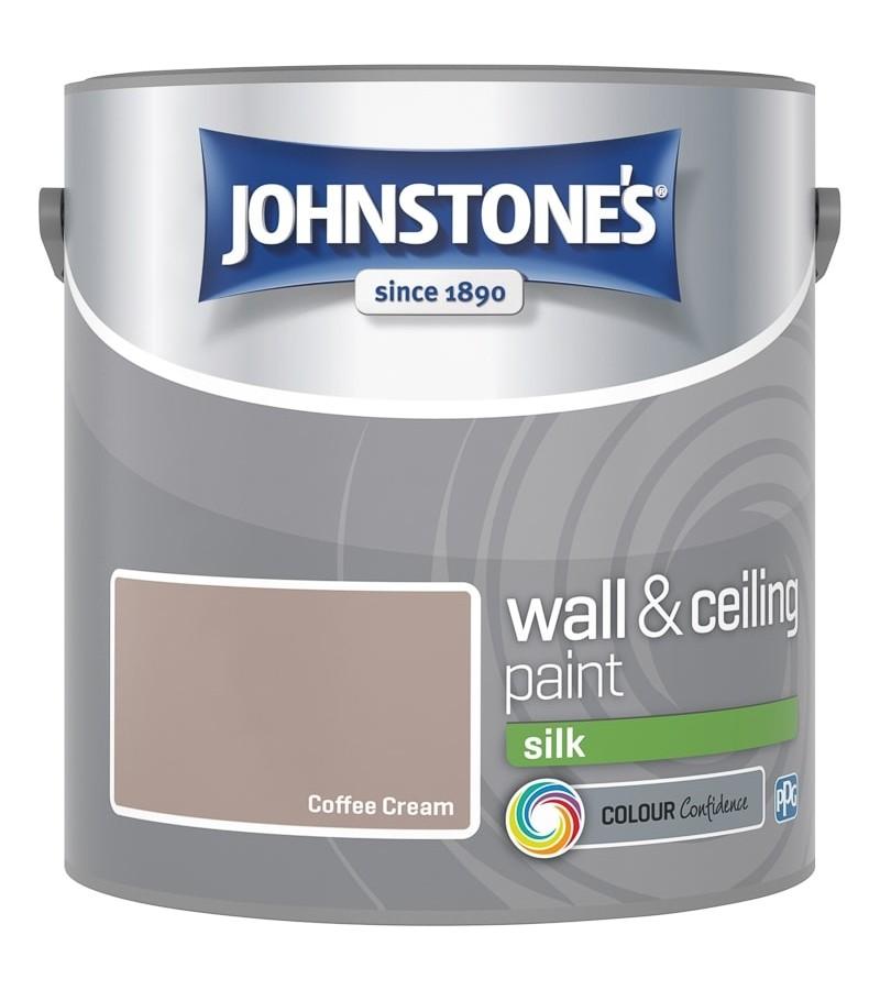 Johnstones Vinyl Emulsion Paint 2.5L Coffee Cream Silk