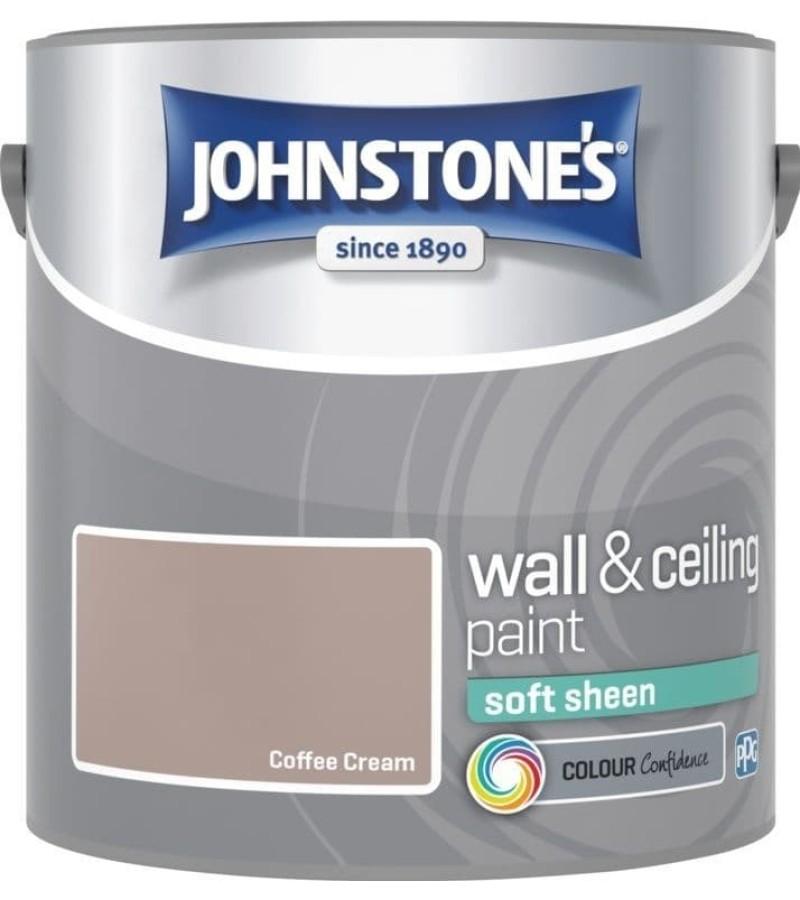 Johnstones Vinyl Emulsion Paint 2.5L Coffee Cream Soft Sheen
