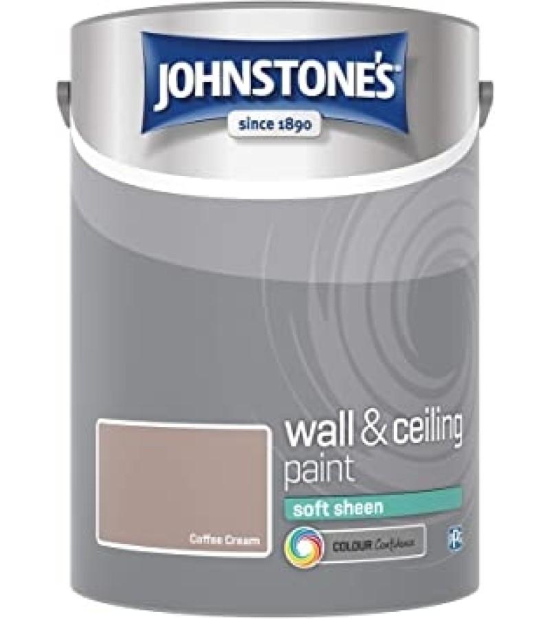Johnstones Vinyl Emulsion Paint 5L Coffee Cream (Soft Sheen)