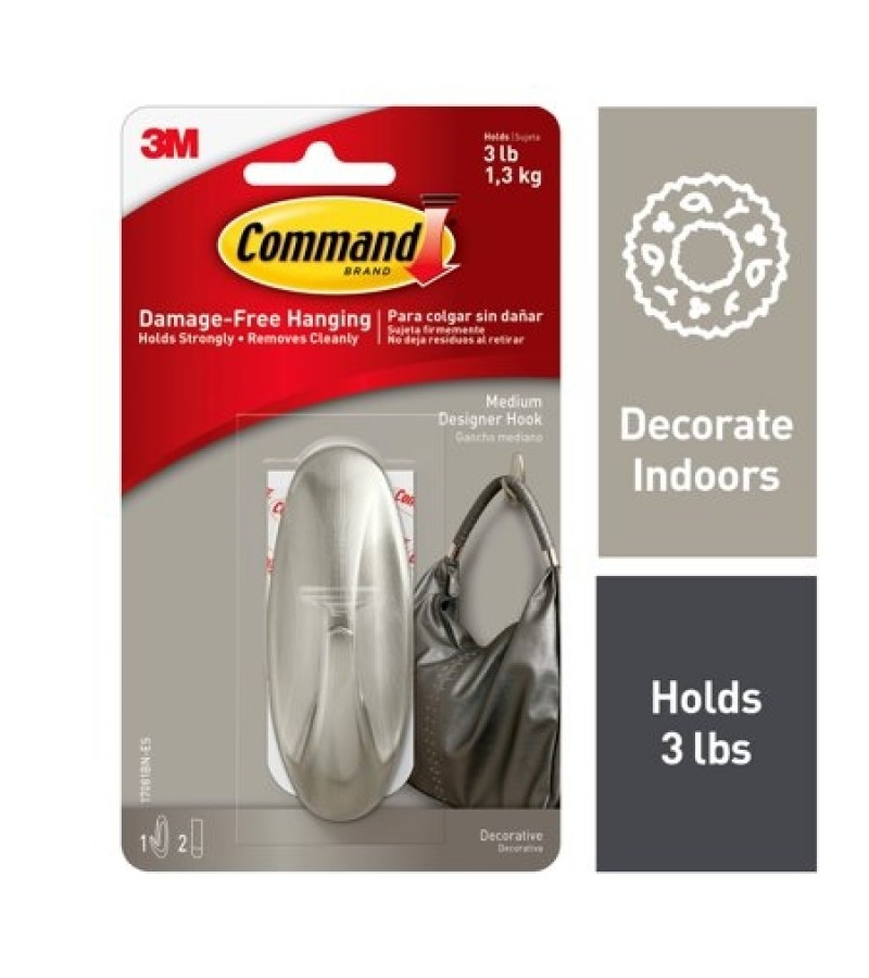 Command 3M Medium Designer Hook 17081BNUKN