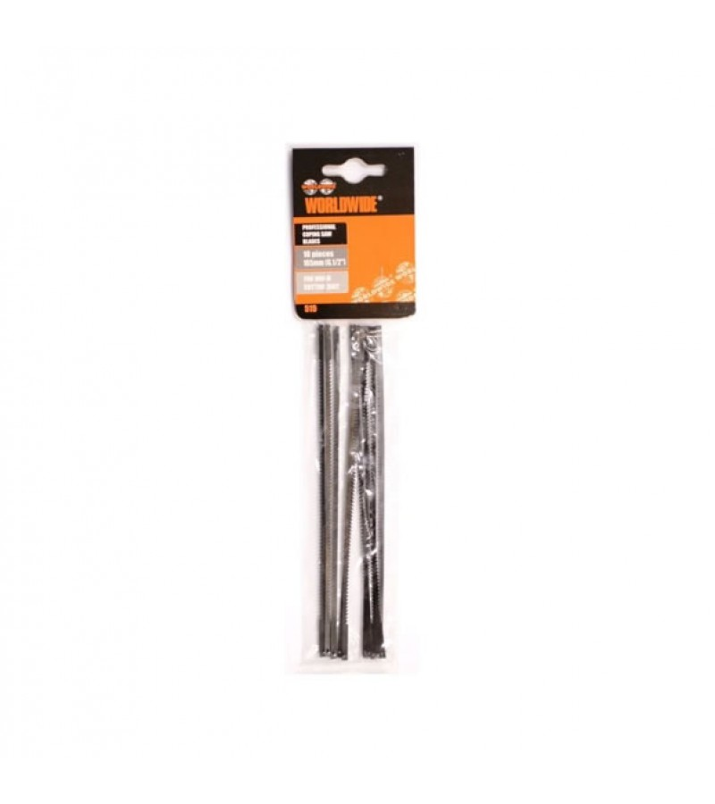 """Worldwide 6.5"""" Coping Saw Blades (10 Pack)"""