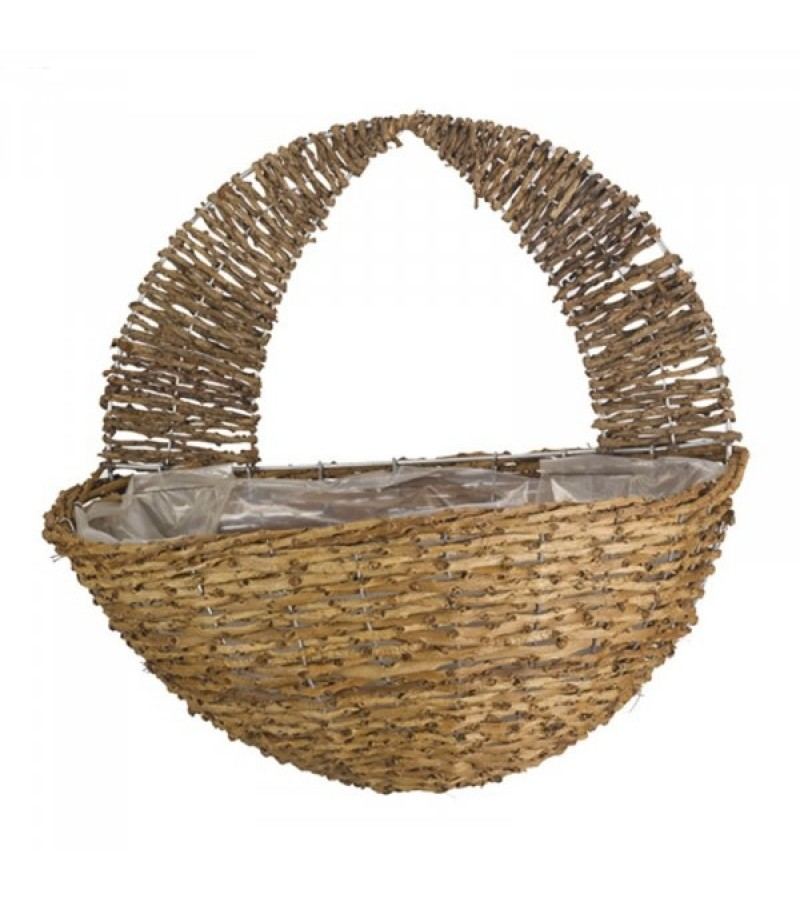 """16"""" Country Rattan Wall Basket"""