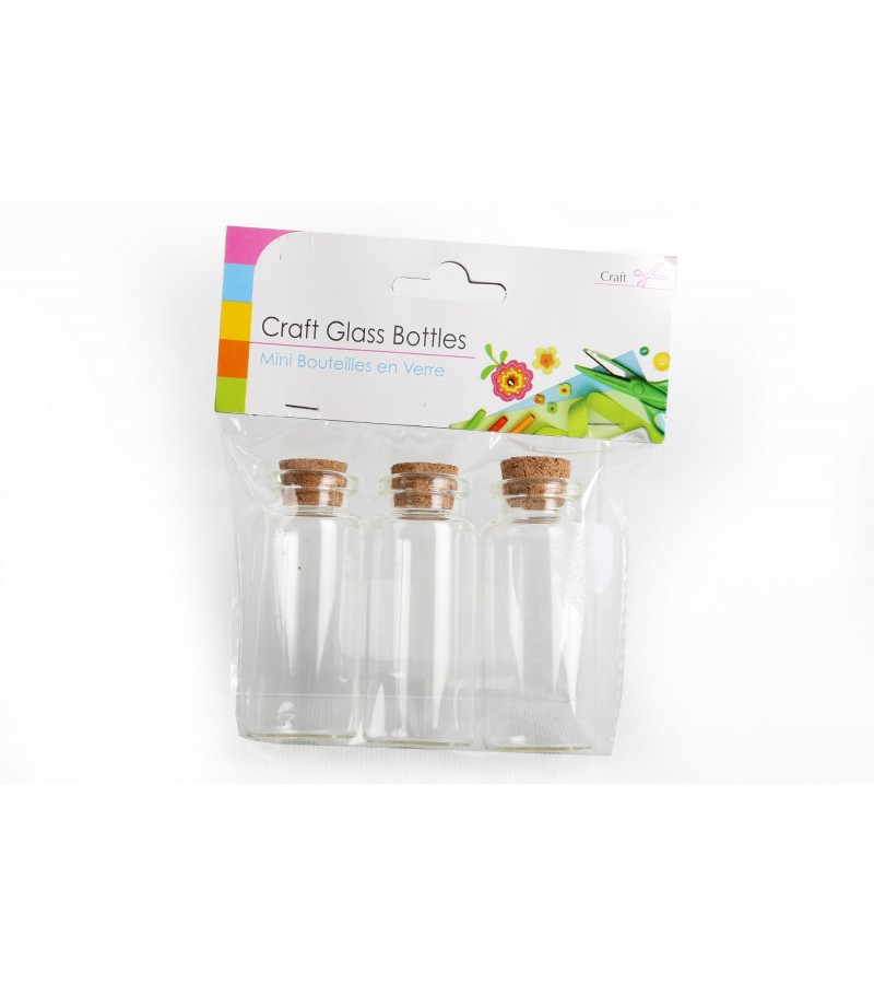 Craft Glass Bottles (3 Pack)
