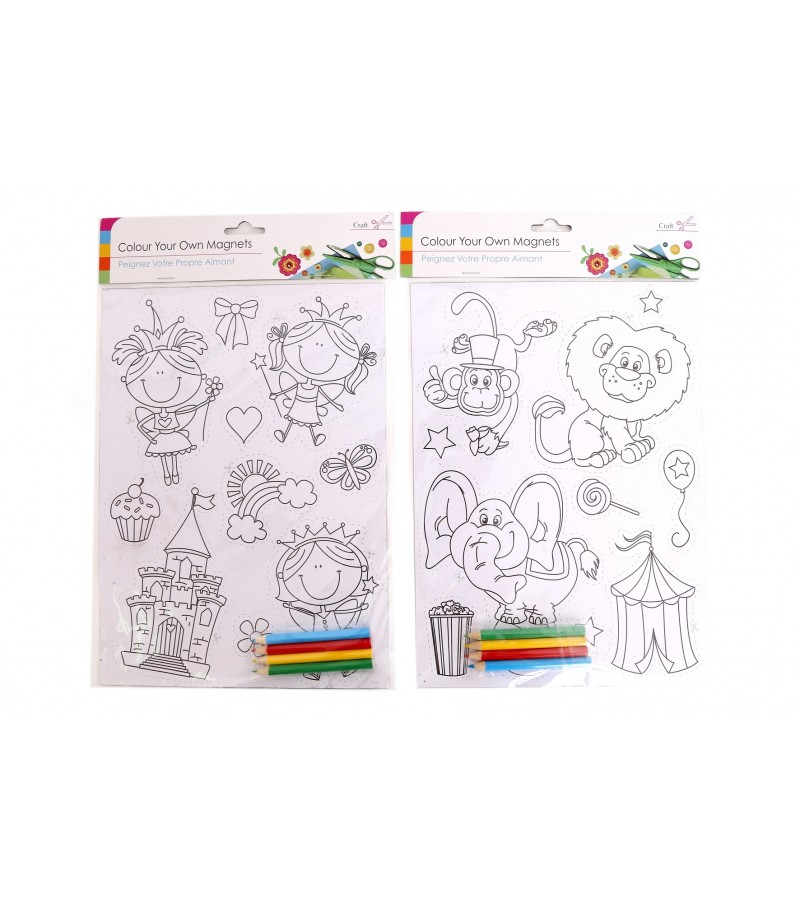 Colour Your Own Magnets