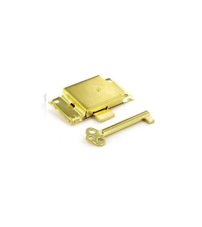 Securit S1672 Brass Plated Cupboard Lock 63mm