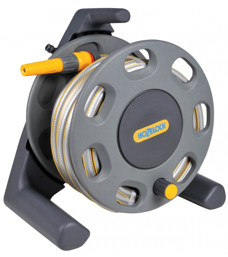 Hozelock Compact Hose Reel with 25m Hose and Fittings