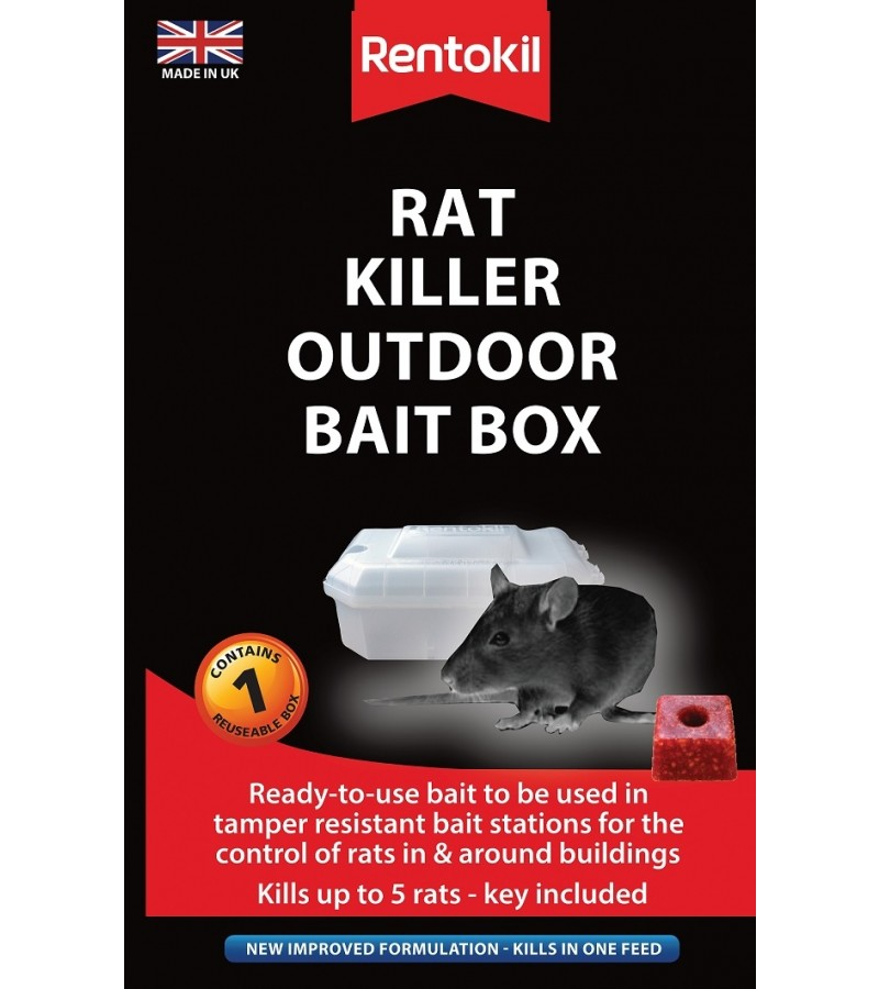Rentokil Rat Killer Outdoor Bait Box