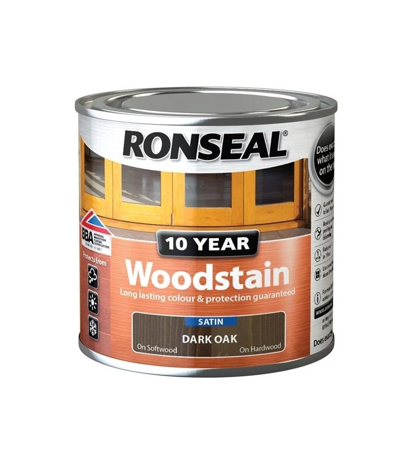 Ronseal 10 Year Woodstain Dark Oak Satin 750ml