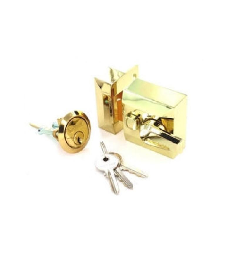 Securit S1731 Double Locking Night Latch Brass