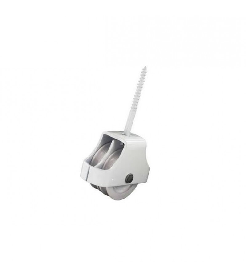 Securit S5202 White Double Screw-In Pulley 45mm