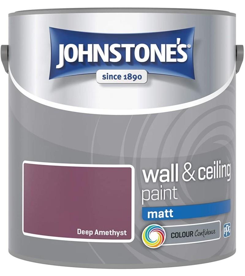 Johnstones Vinyl Emulsion Paint 2.5L Deep Amethyst Matt