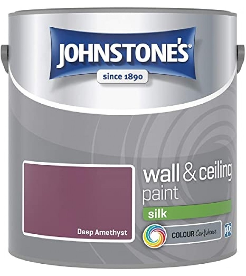 Johnstones Vinyl Emulsion Paint 2.5L Deep Amethyst Silk