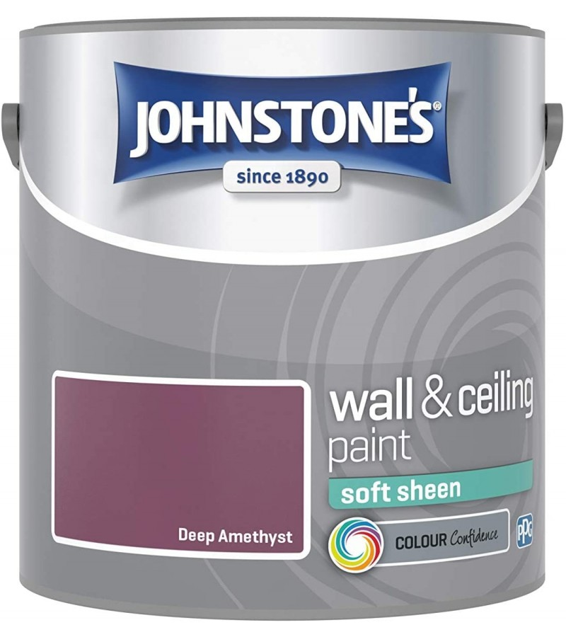Johnstones Vinyl Emulsion Paint 2.5L Deep Amethyst Soft Sheen