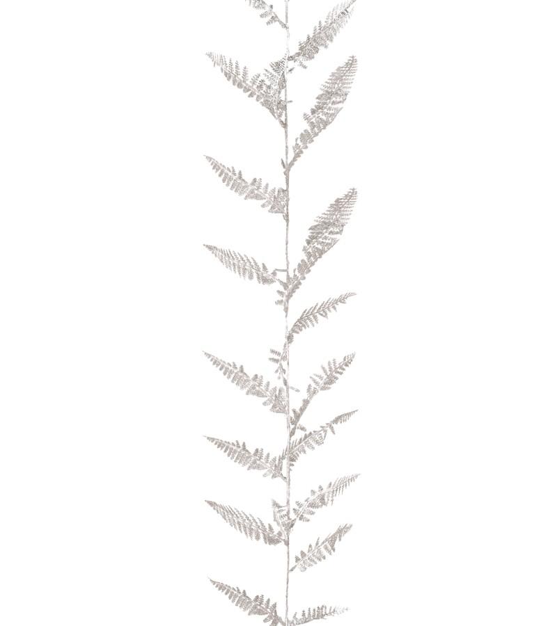 Christmas Glitter Fern Garland 1.8m Silver